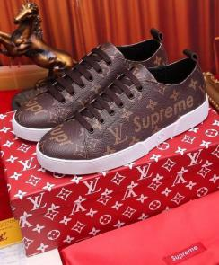 acheter shoes women louis vuitton leather coffie supreme